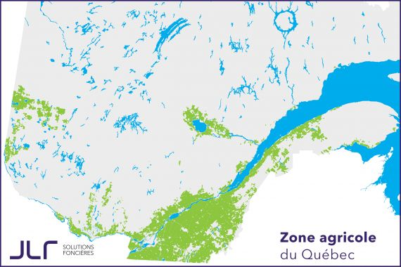 Zone agricole du Québec