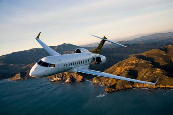 Un avion Global 6000 de Bombardier.