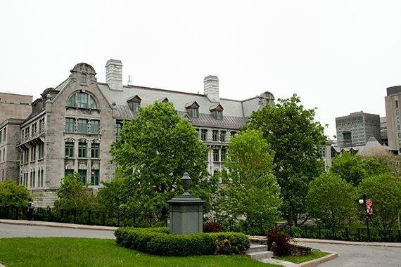 Un bâtiment de l'Université McGill.