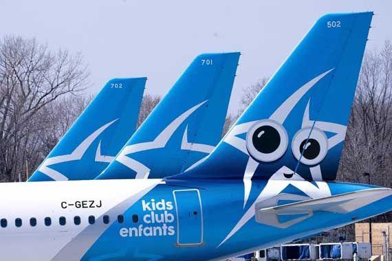 Aviones de Air Transat.