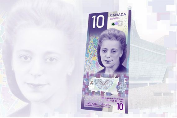 billet de banque canadien femme