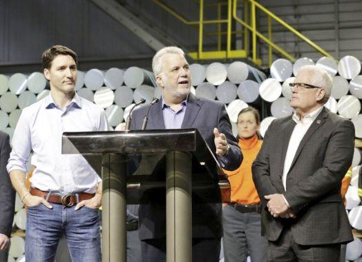 Trudeau rencontre les travailleurs de l'aluminium