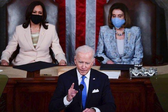 Joe Biden, Kamala Harris y Nancy Pelosi